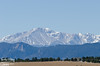 Pikes peak from County Line Road (about 40 miles away), shot with my 70-200mm f/2.8 VR lens.