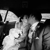 romantic kiss in the car