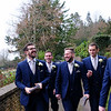 Ashes favourite picture with his ushers. Walking and laughing on the way to St Peters Church Dyrham.