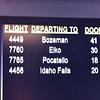 Today we're flying to Pocatello.