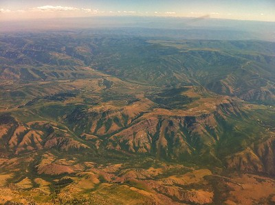 This was our scenery flying into Pocatello, Idaho.