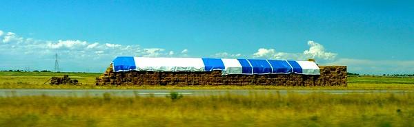 Hay is a major cash crop up here.