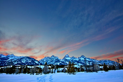 Teton Winter Sunset