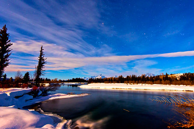 Teton Winter Night Photo