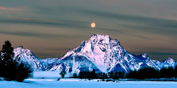 Winter Sunrise at Mt. Moran