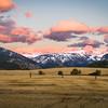 Sunset on West Side of Teton Montain Range