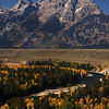 Tetons above Snake River