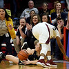 Lexie Niebrugge (11) recovers a loose ball against Chicago Marshall during the  IHSA Class 2A Girls basketball state championship game at Illinois State University's Redbird Arena Saturday evening.<br /> <br /> Chet Piotrowski Jr. photo/Piotrowski Studios