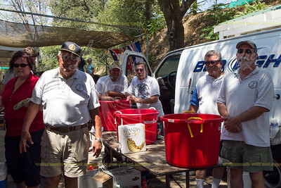 M43-7230 Native Sons of the Golden West--what don't they do?  Tend bar at the awards, run the breakfast that morning, run the water stop at High Camp.