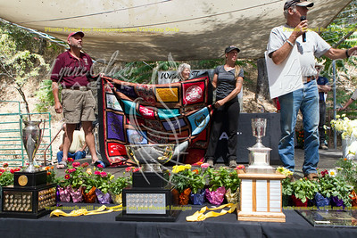 The T-shirt quilt was won in absentia by Dave Rabe, who with over 50,000 miles probably has more Tshirts than anybody. And he's known for riding in shorts, doesn't get cold.