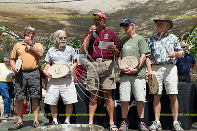 Steve Hallmark presents Friends of the Tevis plaques to the guys who put 700 hours in on trail work
