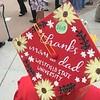 The decorated cap of Tewksbury Memorial High School graduate Erin Coulter. SUN/KORI TUITT