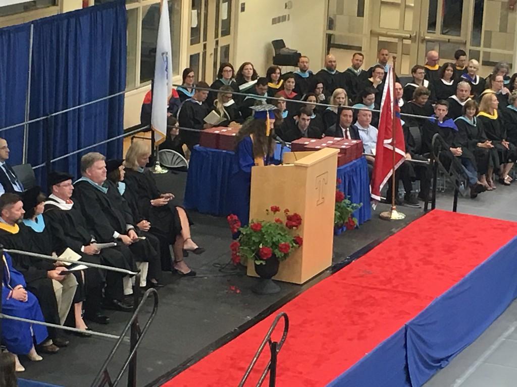 . Tewksbury Memorial High School valedictorian Felicia Ragucci. SUN/KORI TUITT