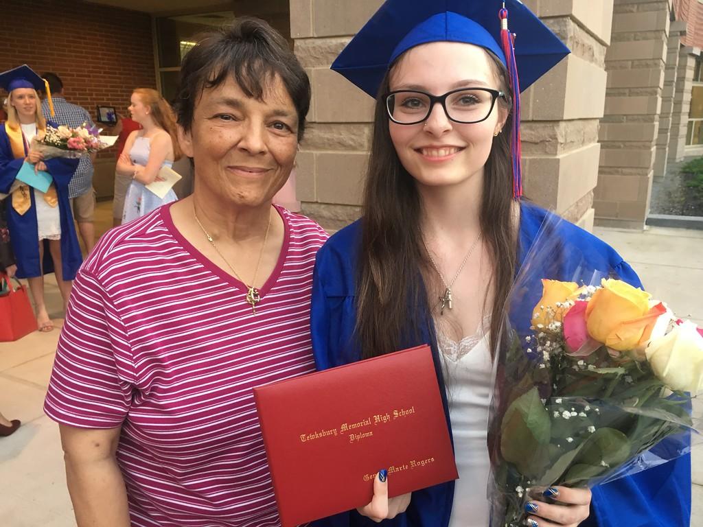 . Tewksbury Memorial High School graduate Genna Rogers, right, and her mother, Judy Rogers. SUN/KORI TUITT