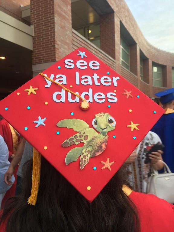 . A Tewksbury Memorial High School graduate�s decorated cap. SUN/KORI TUITT