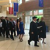 Superintendent Christopher Malone and Tewksbury Memorial High School Principal Kristen Vogel lead the class of 2018 into the school's gymnasium for their commencement. SUN/KORI TUITT