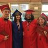 Tewksbury Memorial High School graduates Peter Carey, Samantha Nugent, Joseph Bartevyan and Clarissa Chisholm. SUN/KORI TUITT