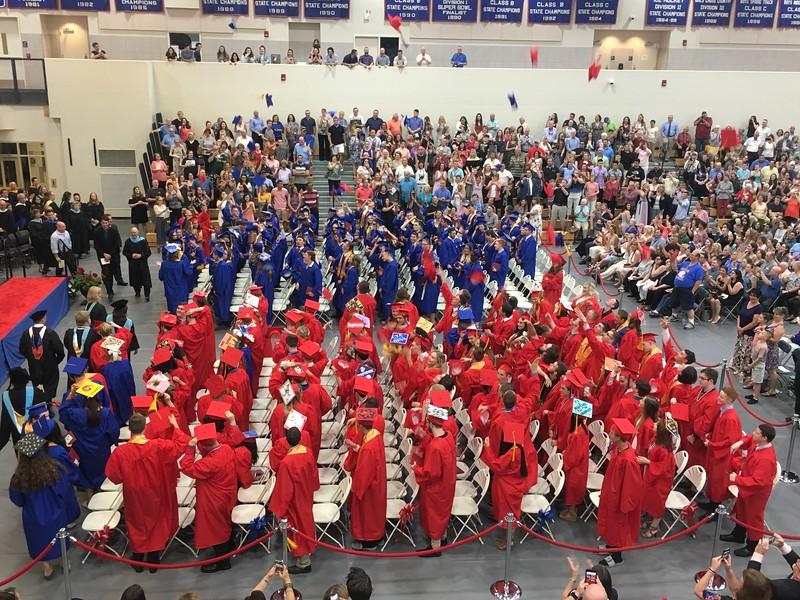 The Tewksbury Memorial High School Class of 2018 commencement. SUN/KORI TUITT
