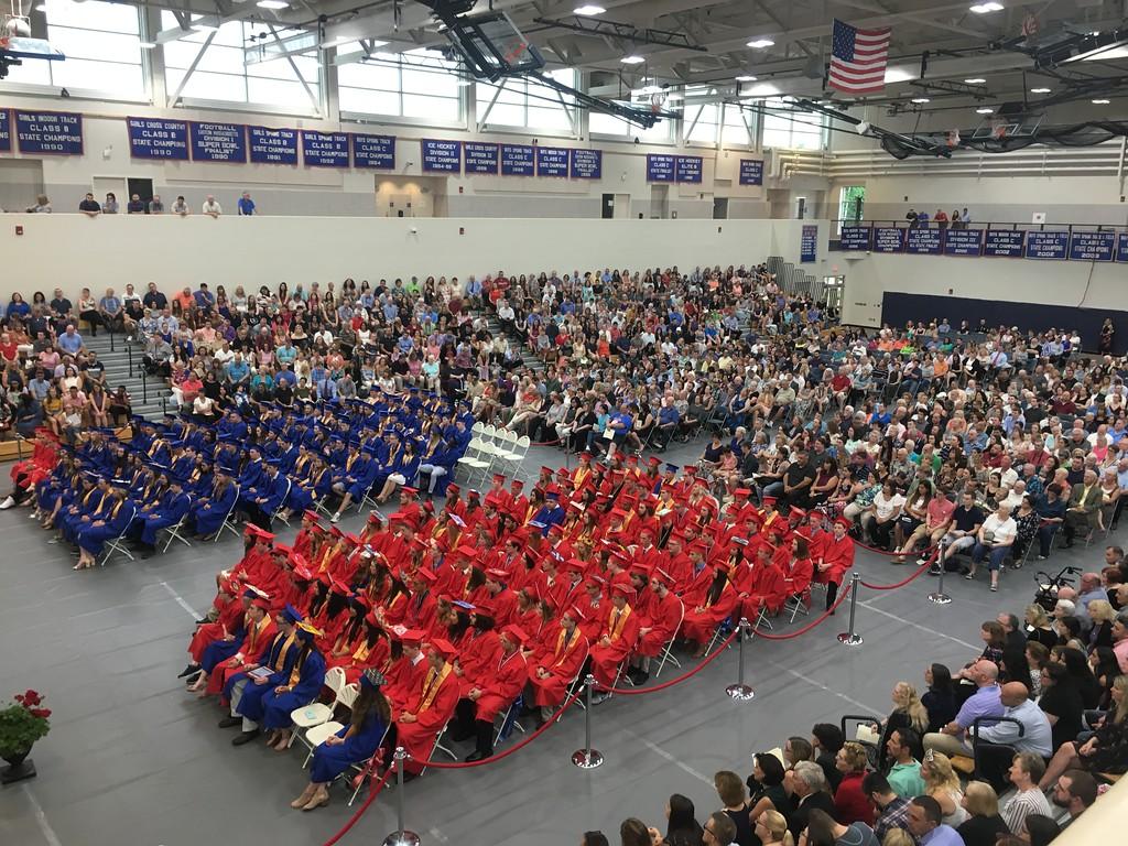 . Tewksbury Memorial High School Class of 2018 commencement. SUN/KORI TUITT