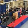 Tewksbury Memorial High School Principal Kristen Vogel addressing the Class of 2018. SUN/KORI TUITT
