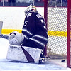Westford Academy Goalie #35-Christian Guglielmo, sits on the ice after failing to stop a Tewksbury goal by Tew#9-Jason Cooke, it was Tewksbury's 2nd goal both by Cooke. SUN/David H. Brow;