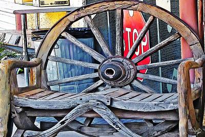 Wagon Wheel Bench, Alpine, TX