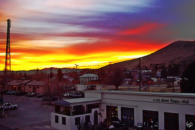 Alpine, Texas at Sunset
