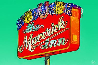 Maverick Inn Sign, Alpine, TX