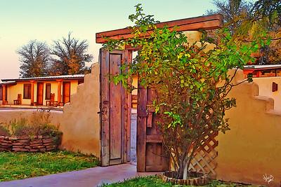 Maverick Inn courtyard, Alpine, TX