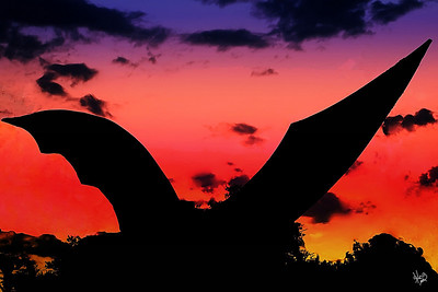 Bat Sculpture Near South Congress Ave Bridge, Austin, TX