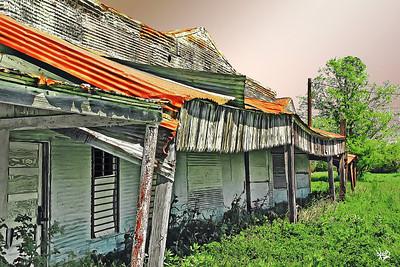 Old Shop Buildings In Dale, TX (color)