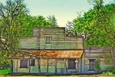 Old Store Building in Elroy, TX.