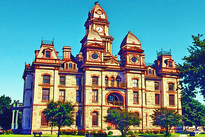 Caldwell County Courthouse, Lockhart, TX.