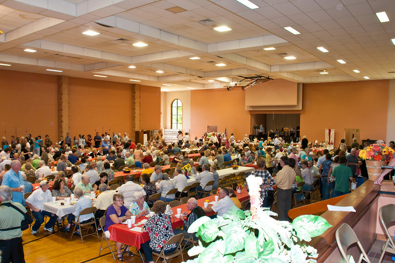 Hungry diners filled the parish activity center.