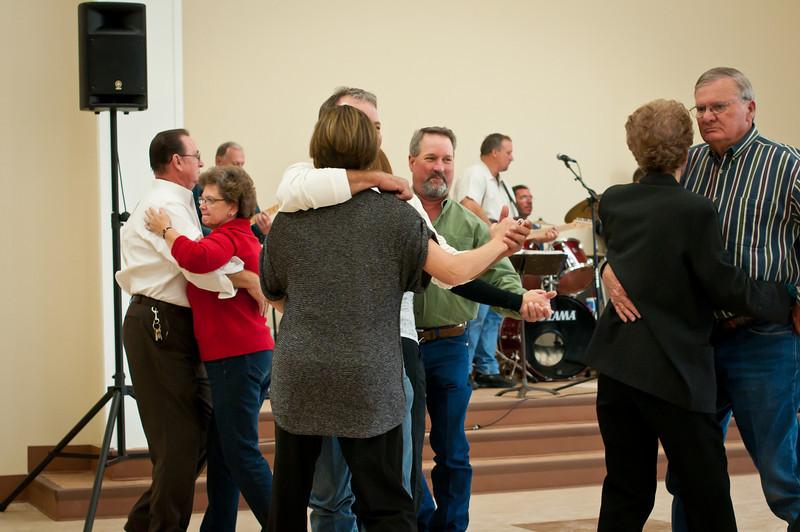 Dancing to the good Polish music.