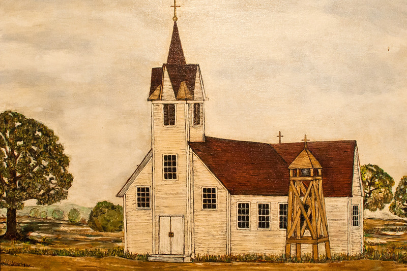 Original Wooden Church In Bremond