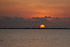 (6:53 AM)  Sunrise over Port Bolivar from the end of the Texas City Dike.