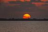 (6:52 AM) Sunrise over Bolivar from the Texas City Dike.