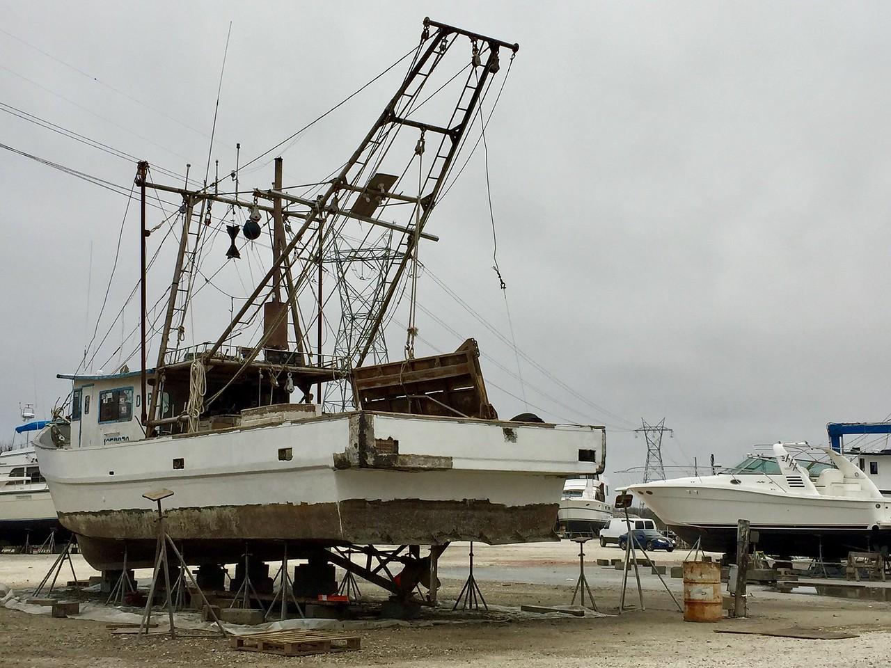 Boat Repair Yard in Color
