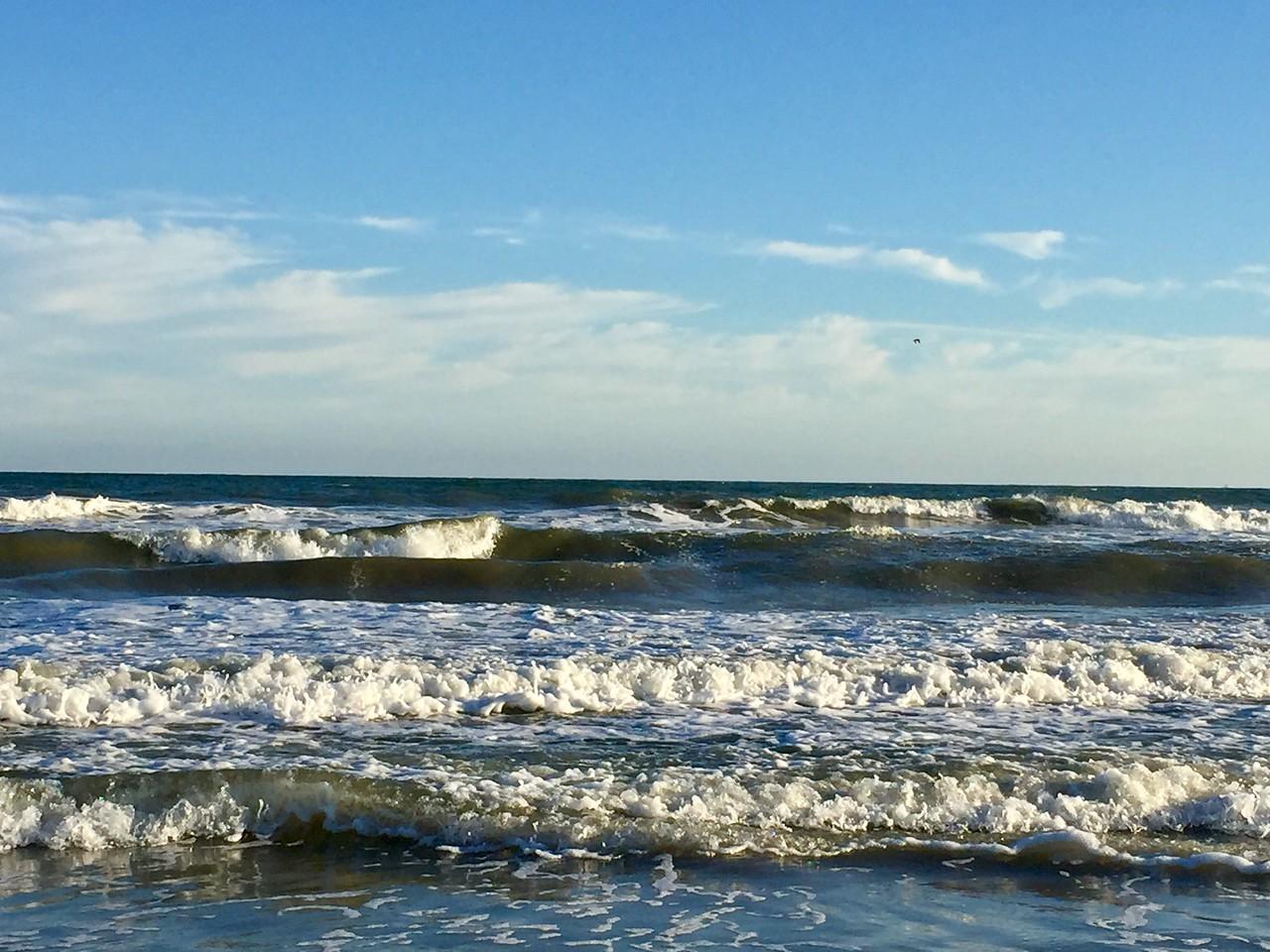 Waves at the Galveston Beach