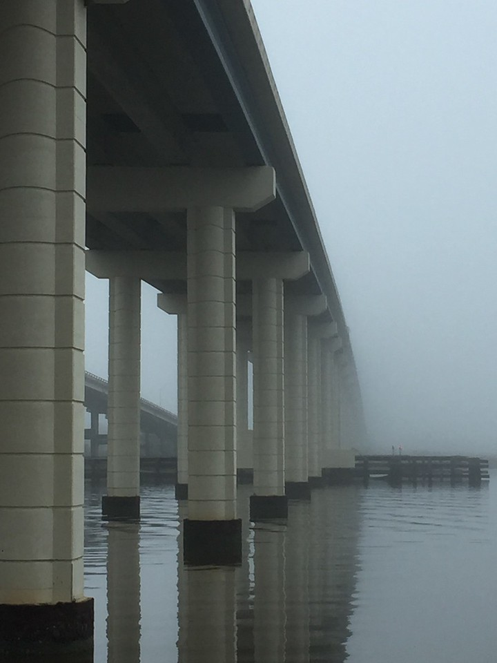 Under the Bridge on a Foggy Morning