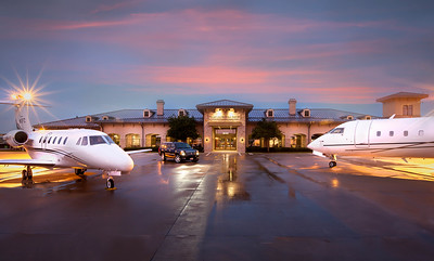 sugarland regional airport twilight photography