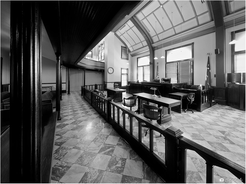 Side View of Courtroom