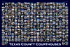 TX County Courthouse Collection - blue