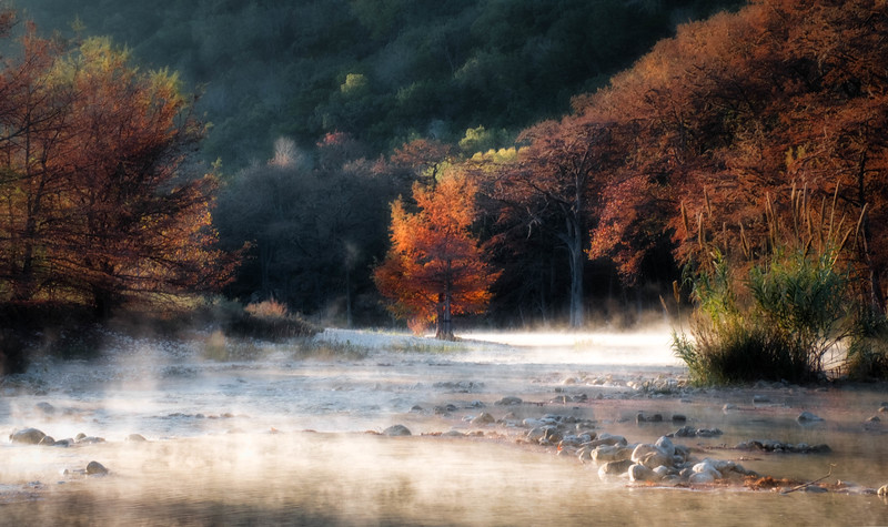 Garner Fall Frio Mist Sunrise Lone Tree