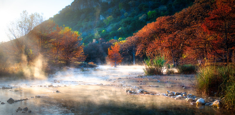 Garner Fall Frio Mist Sunrise
