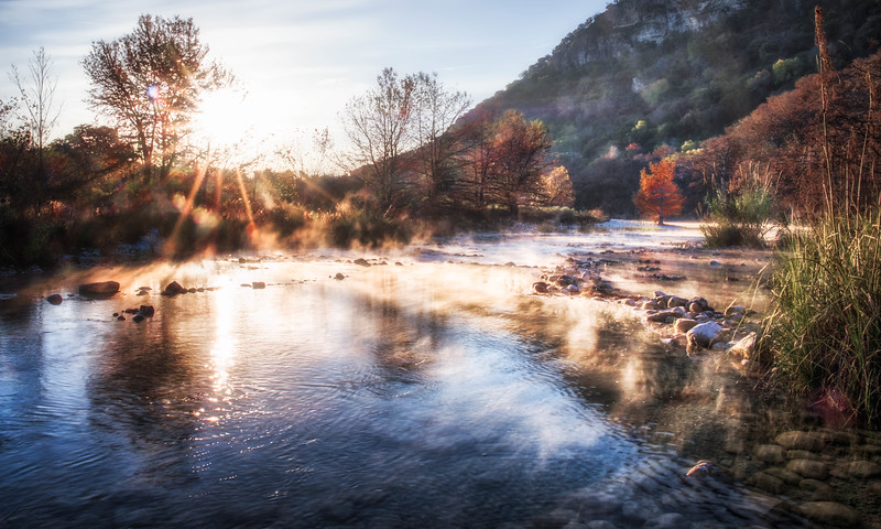 Garner Fall Frio Mist Sunrise Sunburst