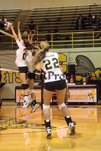 CHS Varsity Volleyball vs Everman Sept 9, 2011 (10)