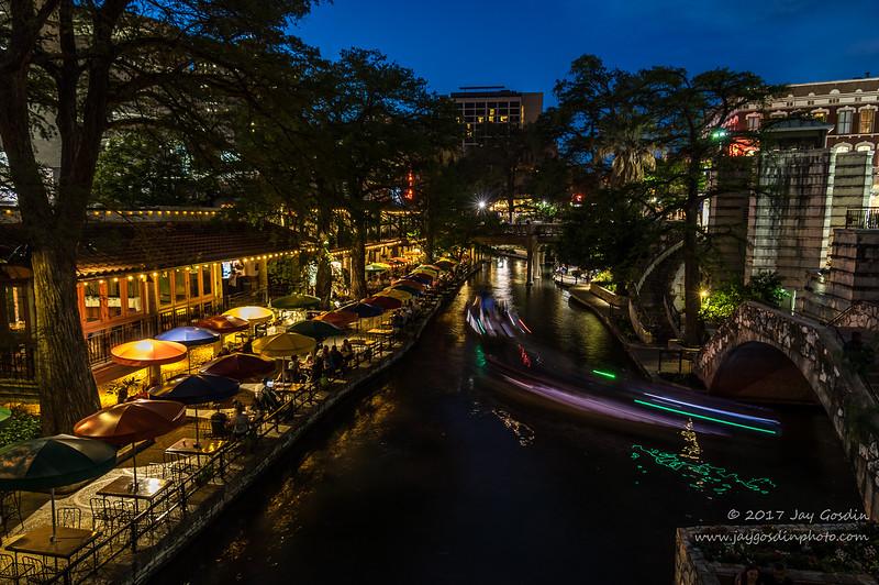 Riverwalk San Antonio, Texas at Dusk