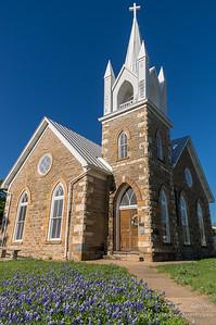 Hilda Methodist Church and Bluebonnets